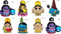 Cute Indian toys by a Brazilian designer Rique C Pereira – Hobbies paining body for kids and adult Krishna, Shiva, Biscuit, Diy Diwali Decorations, Best Baby Toys, Puppets For Kids, Lord Ganesha Paintings, Traditional Toys, Indian Dolls