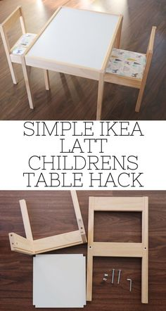 Best Pic Simple IKEA LATT Children's Table Hack - Happy Messy Life Tips On certainly one of my very frequent trips to IKEA I came across cheaper lacking tables which were Ikea Chair, Diy Chair, Ikea Kids Table, Children Table And Chairs, Eco Furniture, Furniture Market, Furniture Movers, Furniture Outlet, Furniture Projects