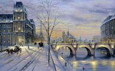 Robert Finale. Fantasía de invierno de París