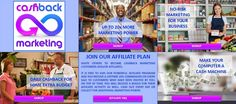 """Have you heard about the Cashback Marketing Phenomenon? In a recent poll, 3 out of 4 named it """"the best business opportunity ever""""! •It is free to join •It pays the highest commissions •It pays endless bonuses •It pays up to 1% cashback daily"""