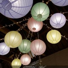 Oakwood Events (@oakwoodevents) • Instagram photos and videos Pastel Colors, Colours, Hello Sunshine, Ceiling Decor, Paper Lanterns, Lampshades, Spring Wedding, Events, Photo And Video