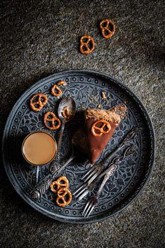 Sernik czekoladowy na paluszkowym spodzie - Z pamiętnika piekarnika