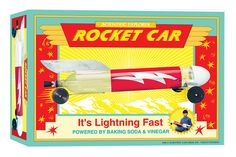 Scientific Explorer Rocket Car and thousands more of the very best toys at Fat Brain Toys. This Rocket Car is powered by baking soda and vinegar. It is fast and totally unique and fun. It's a real rocket on wheels, powered by a patented baking soda and vinegar fueling system.