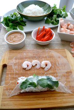 How to make Vietnamese Spring Rolls - The Fresh Find Vietnamese Spring Rolls, Vietnamese Food, Vietnamese Recipes, Filipino Recipes, Easy Peanut Sauce, Homemade Peanut Sauce, Fish Recipes, Asian Recipes, Healthy Recipes