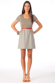 6e5320fbec39 polkadot dress with red belt