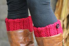 Chunky Crochet Boot Cuffs   #101Crochet