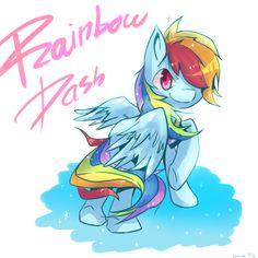 Rainbow Dash by cheerubi.deviantart.com on @DeviantArt