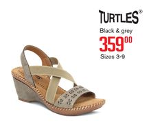 Comfort Wedge - July Catalogue 2016 Comfortable Shoes, Black And Grey, Wedges, Comfy Shoes, Wedge, Wedge Sandals