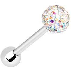 Aurora Ferido Ball Barbell MADE WITH SWAROVSKI ELEMENTS   Body Candy Body Jewelry