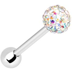 Aurora Ferido Ball Barbell MADE WITH SWAROVSKI ELEMENTS | Body Candy Body Jewelry