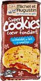 Michel et Augustin Super cookies coeur fondant au chocolat au lait et noisettes 180g - Lot de 3