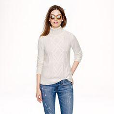 Pre-order Cambridge cable turtleneck sweater