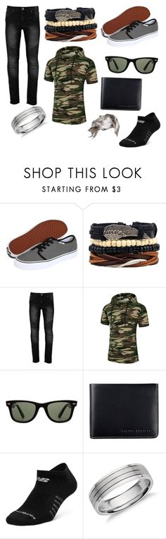 """""""Handsome men"""" by kyrabooboo ❤ liked on Polyvore featuring Vans, Ray-Ban, Status Anxiety, New Balance, Blue Nile, men's fashion and menswear"""
