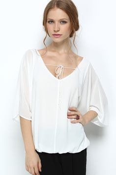 Relaxed White Tunic