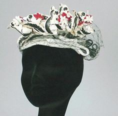 Bes-Ben Skunks with Flowers Hat - Couture and Textiles | Doyle Auction House