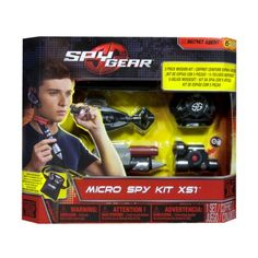 The Spy Gear Micro Spy Kit delivers 5 stealth-sized pieces of gear for completing any mission! The includes night vision, motion alarms, audio listening enhancement gear and a Spy Lazer Pen. Each piece of Spy Gear is micro-sized to keep your spy activ Spy Gadgets For Kids, Must Have Gadgets, Gadgets And Gizmos, Tech Gadgets, Cool Gadgets, Tech Hacks, Spy Video Camera, Pen Camera, Pinhole Camera