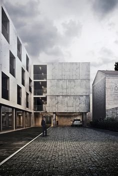 STUDENT HOUSING in Bordeaux by Pawel Podwojewski, via Behance