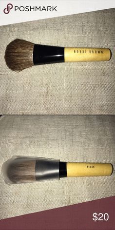 "Bobbi Brown mini blush brush Brand New with cover - Bobbi Brown blush brush. Perfect for your handbag, or makeup bag. Also great for travel. Handle measures 3"", brush total 4"". Bobbi Brown Makeup Brushes & Tools"
