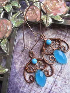 Floral Bohemian Wire Wrapped Earrings by Lirimaer86.deviantart.com on @deviantART