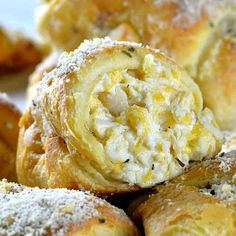 Cheesy Chicken Crescent Dinner Rolls stuffed with shredded chicken, cream cheese, mozzarella and cheddar, topped with Parmesan is quick and easy recipe and perfect meal for weeknight dinner, lunch, snack or appetizer for a party.  #dinnerrolls #dinner #chicken #appetizers #lunch