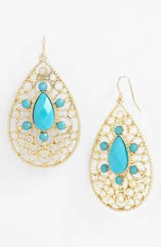 Tasha Filigree Teardrop Earrings