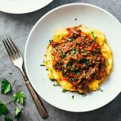 Crockpot Braised Beef Ragu Polenta HealthyAperture.com