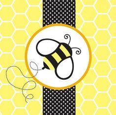 Napkins for bumblebee party