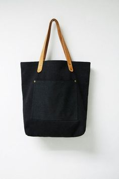 *WANT: black canvas tote bag.