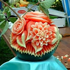 watermelon sculpture. holy moly.