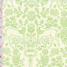 Gypsy Girl by Lily Ashbury for Moda Color: Bone & Sour Apple $9.99/y