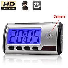 #BuyinCoins - #BuyinCoins Mini HD Spy DVR Hidden Camera Alarm Clock Motion Detection DV Video Recorder Cam - AdoreWe.com