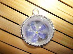 light blue verbena flower necklace   Seasonal Remedies