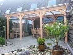 Danenberg Shop BV :: Terrasoverkappingen, veranda's en carports :: Houten Veranda Terras overkapping :: Overkapping compleet met houten onderconstructie