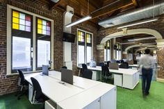 Wotif Groups Colorful and Collaborative Brisbane Offices office space, office design, office interiors Loft Office, Office Workspace, Office Decor, Office Ideas, Fun Office Design, Creative Office Space, Visual Merchandising, Bureau Design, Branding