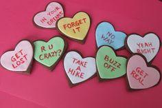 Sarcastic Valentine Cookies