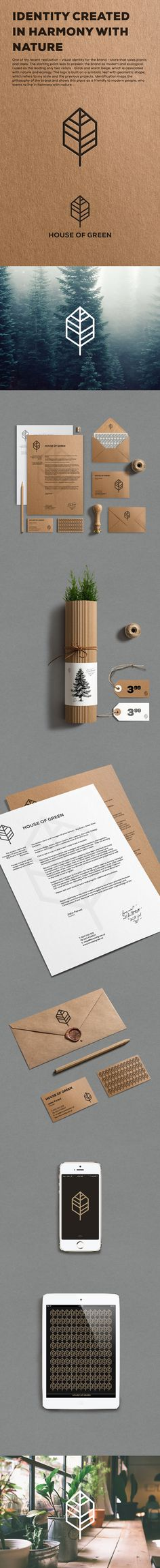 HARMONY WITH NATURE on Behance. Love the angular/geometric version of an organic…