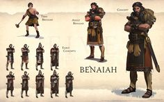 Benaiah page from FIVE: Guardians of David Art Book