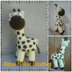 Jirafa amigurumi tejida por Alma Noble Crochet www.facebook.com/almanoblec