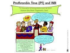 Nursing Mnemonics & Tricks (Diagnostics) Prothrombin time and INR Nursing Lab Values, Nursing Labs, Nursing School Tips, Nursing Career, Nursing Notes, Nursing Schools, Nursing Major, Nursing Gifts, Nursing Scrubs