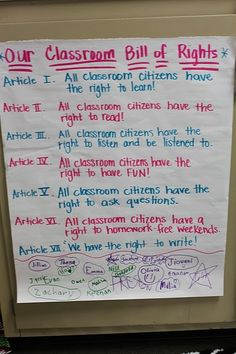 Classroom bill of rights    5th Grade NYS Learning Standard  CITIZENSHIP AND CIVIC LIFE   -Constitutions, rules, and laws are developed in democratic societies in order to maintain order, provide security, and protect individual rights.