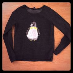 American Eagle Sequined Penguin Sweater Great sweater, excellent condition American Eagle Outfitters Tops Sweatshirts & Hoodies