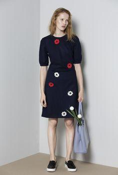 OKSANA sukienka z wełny z makami - RabbitRabbit - Moda tematyczna