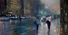 Rainy Australian Cityscapes by Mike Barr | Colossal | Bloglovin'