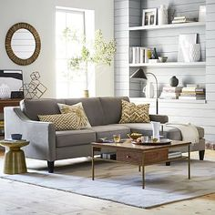 Also loving this Paidge 2-Piece Chaise Sectional from #westelm in the Performance Velvet, Dove Gray color.
