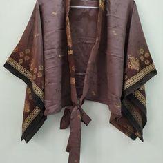 Women's Wrap Top Kimono Top Kimono Style Blouse | Etsy Bohemian Kimono, Bohemian Blouses, Boho Tops, Kimono Style, Kimono Shrug, Kimono Blouse, Sleeveless Blouse, Cardigans For Women, Blouses For Women