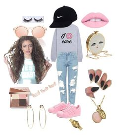 """When u go out to the moives with Bae "" by sashasade on Polyvore featuring Topshop, adidas Originals, NIKE, Bobbi Brown Cosmetics, New Look, Nixon and Bebe"