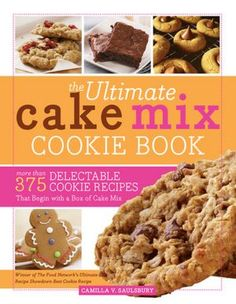 Delicious cookies made with cake mix!  Gotta try some of these recipes!