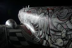 Old WWII Planes become a canvas for Artists (from PSFK)