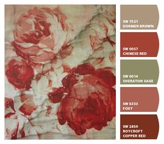Red Roses, textiles - My French Life (Vicki Archer)