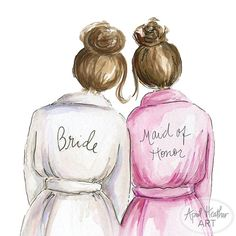 Maid of Honor PDF Download Brunette Bride by aprilheatherart